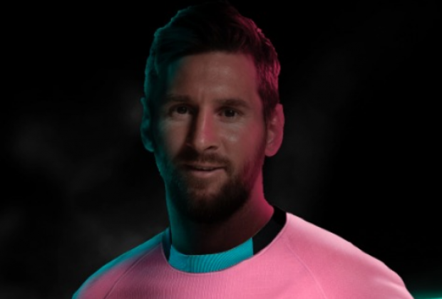 fc barcelona nike launch pink 2020 21 third kit featuring lionel fc barcelona nike launch pink 2020 21