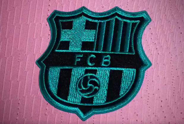 Fc Barcelona Nike Launch Pink 2020 21 Third Kit Featuring Lionel